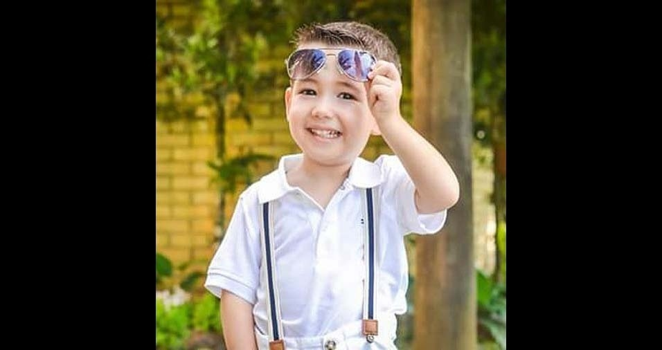 Débora, de Blumenau (SC), enviou foto do filho João Vitor, de três anos e meio