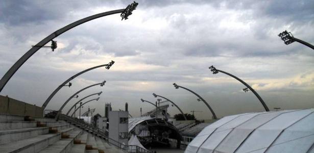 O sambódromo é parte do Complexo do Anhembi