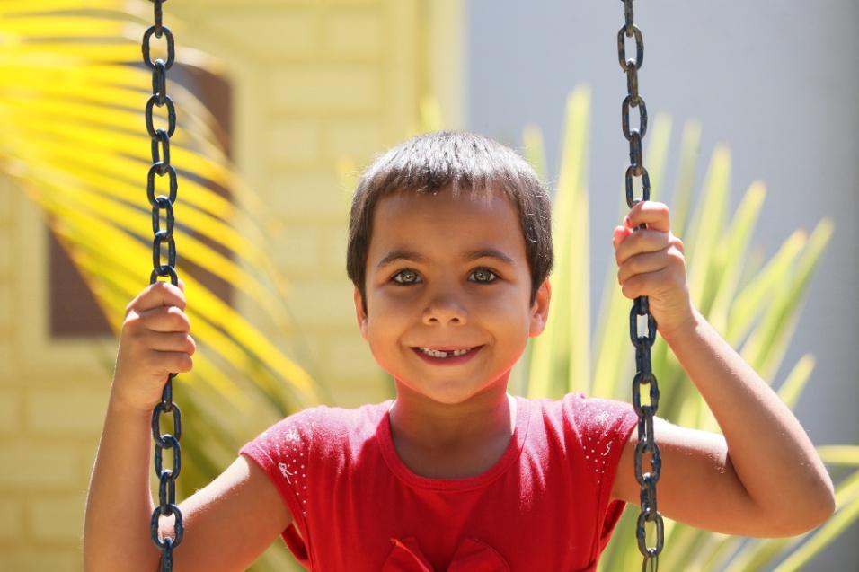ABRACE. A menina foi diagnosticada com Talassemia, uma doença genética que causa anemia profunda