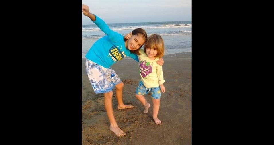 Antônio e Miguel, de Pelotas (RS), em foto enviada pela Patricia Farias Balreira