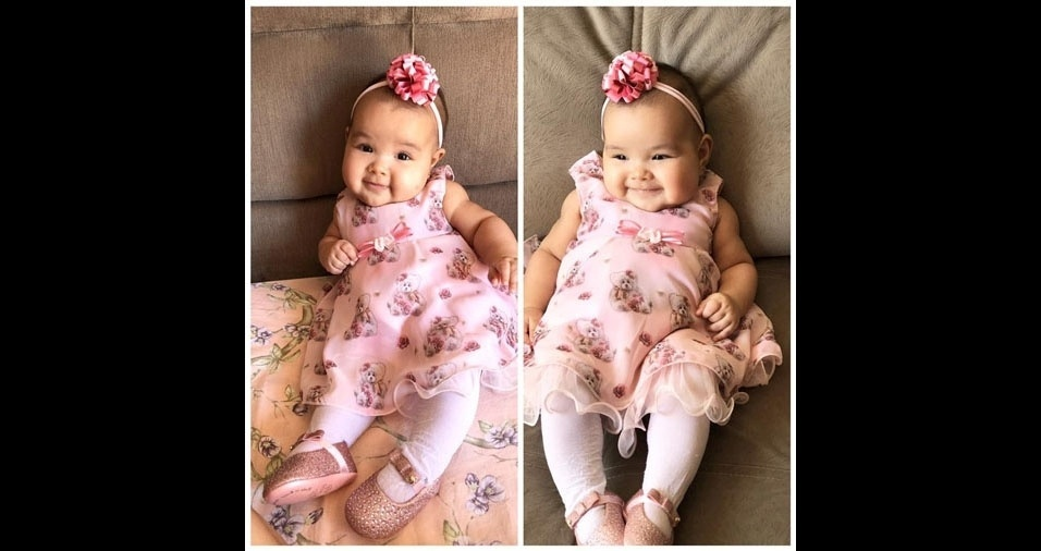 Isamara enviou foto da filhota Eloá