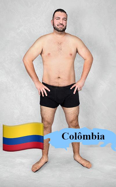 18.fev.2016 - Imagem editada mostra como seria o padrão de beleza na Colômbia para os designers gráficos locais