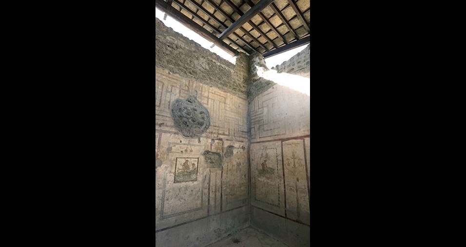 15.dez.2016 - Segundo estudos de historiadores, os desenhos nas paredes não eram apenas ilustrações, mas um catálogo dos serviços oferecidos por quem trabalhava no prostíbulo