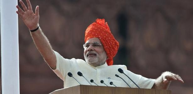 Narendra Modi, o primeiro-ministro indiano