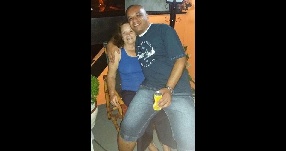 Elilia com o filho Francisco, de Mauá (SP)