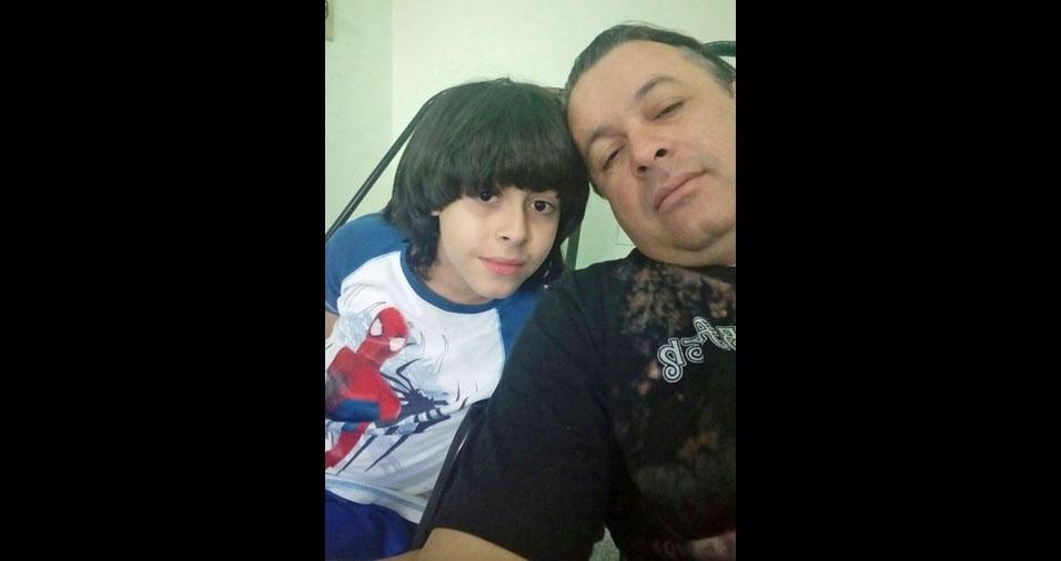 Enzo com o papai Renato Gnutzmann, de Lençóis Paulista (SP)