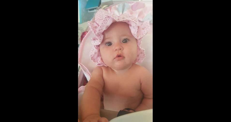Luciane, de Barreiras (BA), enviou foto da filha Valentina