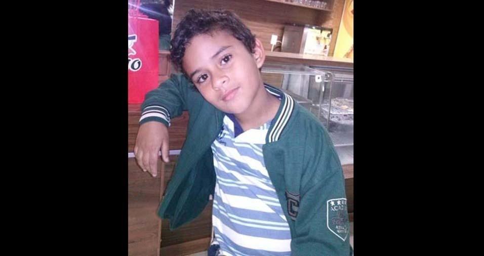 Valcimar, de Linhares (ES), enviou foto do filho Andre, de dez anos
