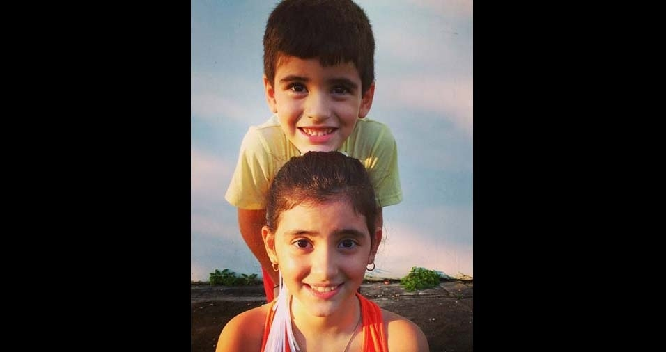 Tyciana enviou foto dos filhos Lara e Davi, de Boa Vista (RR)