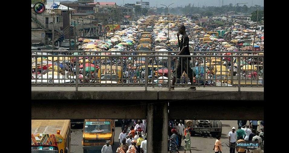 7. Mercado popular na Nigéria