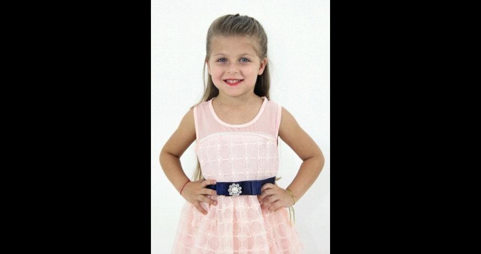 Catarina, quatro anos, é a filha da Thamiris Camargo Mesquita, de São Paulo (SP)