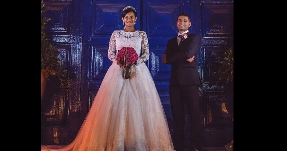 Carlos Felipe e Jessica Rafaela casaram-se no dia 6 de novembro de 2015. A  cerimônia aconteceu na Capela do Sagrado Coração de Jesus, em Rio Formoso (PE)
