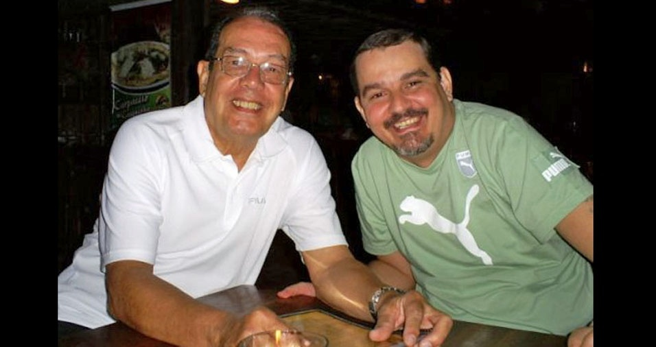 Papai Luiz e filho Felipe