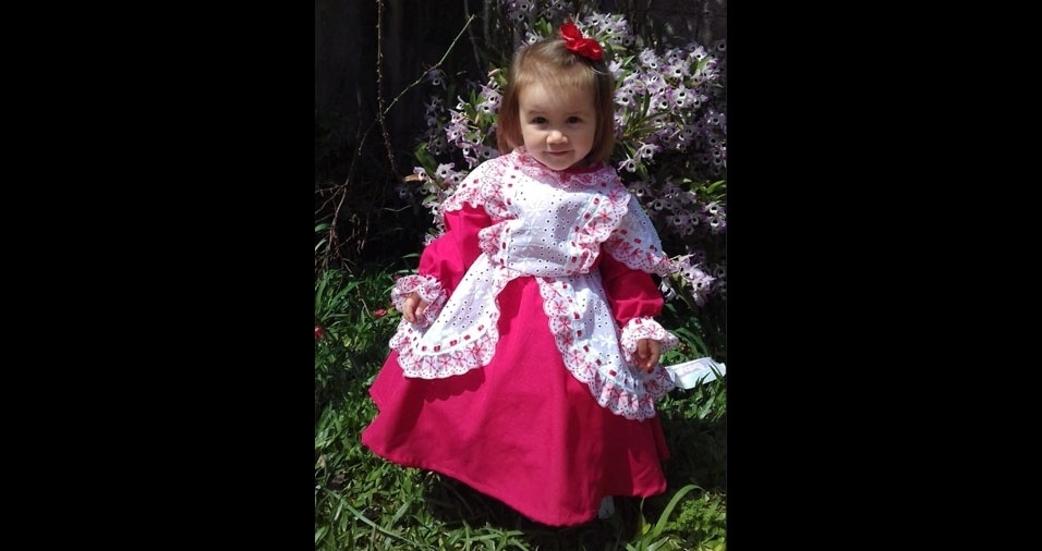 Fabio e Francielli enviaram foto da filha Gabrielly