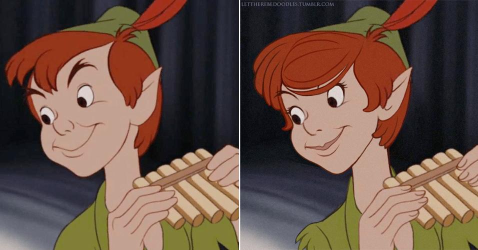 6.jan.2016 - O clássico Peter Pan foi convertido em uma bela ladra em série de desenhos na internet