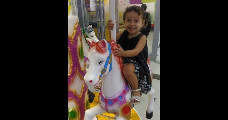 Alan, de Juazeiro do Norte (CE), enviou foto da filha Gabriela, de dois anos