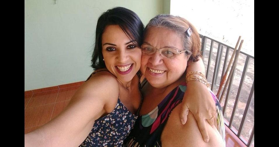 """Wesliane Soares Domingues é a filha da dona Doroty Soares Domingues, de Belo Horizonte (MG): """"Minha mãe, Meu tudo! Sou grata a Deus pelo privilégio de ser sua filha. TE AMOOOOOOOO!"""""""