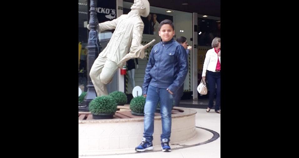 """A Telma Cristina de Paula, de Jacarezinho (PR), enviou foto do filho Miguel Henrique: """"É um sonho que Deus transformou em realidade nas nossas vidas"""""""