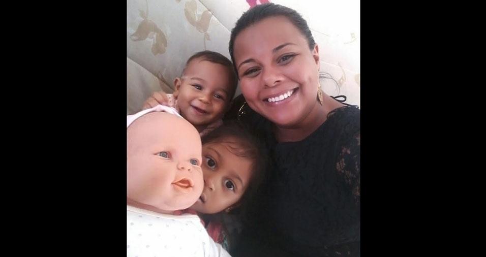 Monica com as filhas Isabella e Ana Luiza, de São Paulo (SP)