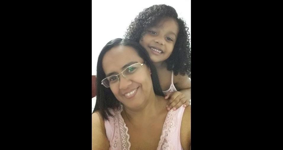 Kariny com a mãe Kedma, de  Belém (PA)