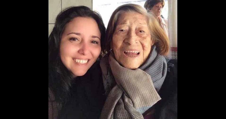 Adriana Lisboa Manzutti, de Bariri (SP), faz uma homenagem à avó, dona Liles Delfino Alves, que faleceu recentemente, aos 102 anos