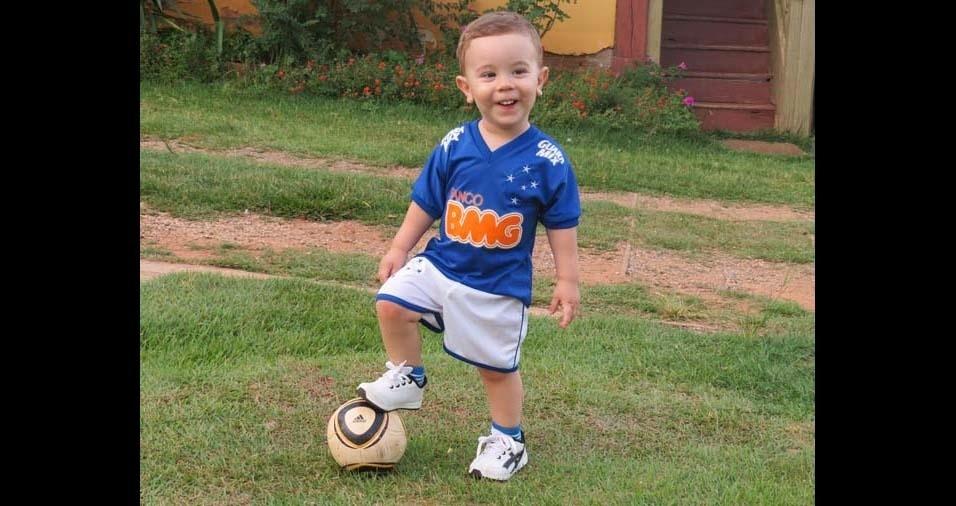 Christienne, de Itanhomi (MG), mandou foto do filho Samuel, de três anos