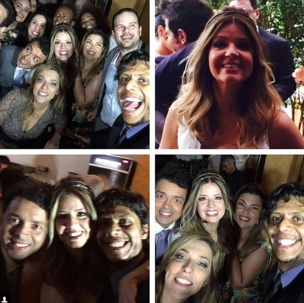 8.ago.2016 - Cerimônia contou com a presença de Marcos Veras e Fabiana Karla, amigos do casal