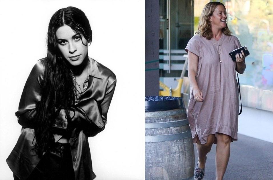 15.out.2016 - A cantora canadense Alanis Morissette foi flagrada caminhando com um visual bem descontraído por Los Angeles, nos Estados Unidos. Alanis deu à luz a pequena Onyx em junho