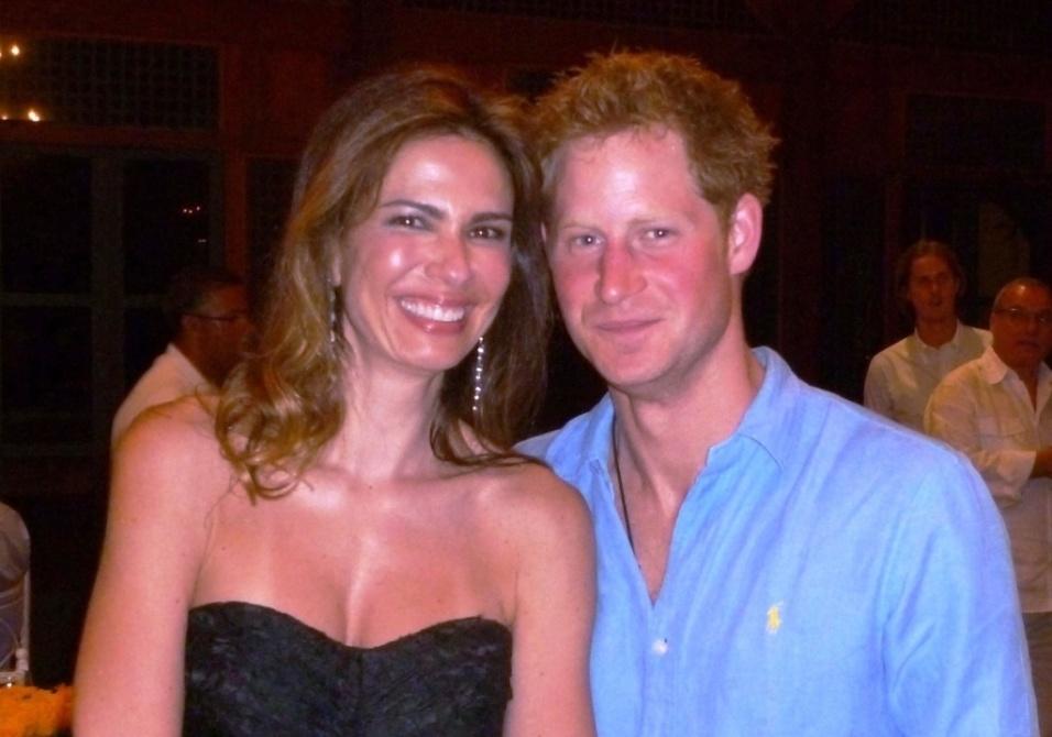 Mar.2012 - Luciana Gimenez e o príncipe Harry