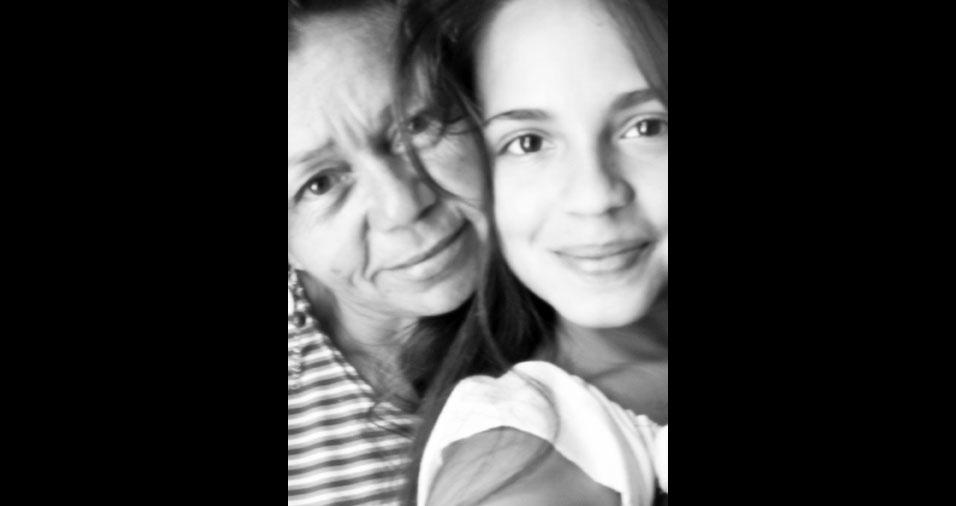 Priscila com a mamãe Maria Lucinete
