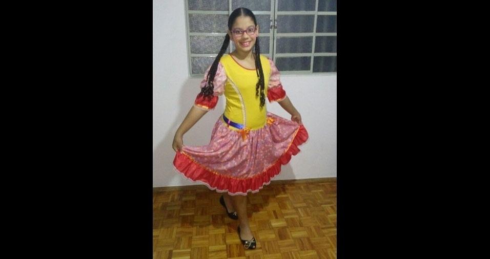 Brenda, dez anos, em foto enviada pelos pais Douglas e Leila, de Araçatuba (SP)
