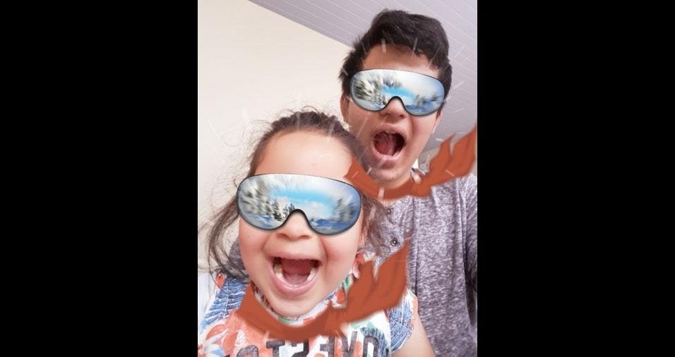Os pais Michelle Dias N. Paulo e Ivair Aparecido de Paulo enviaram foto dos filhos Gustavo e Barbara, de São José dos Pinhais (PR)
