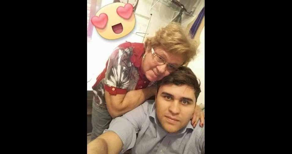 Danilo com a vovó Neide