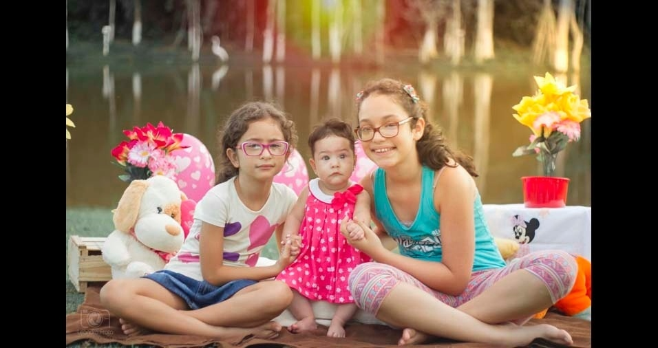 Leandro da Frota enviou foto da garotada: Anna Julia, Anna Valentina e Anna Beatriz, de Rio Branco (AC)