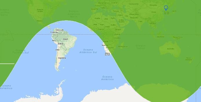 Reprodução Free Map Tools/Google Maps