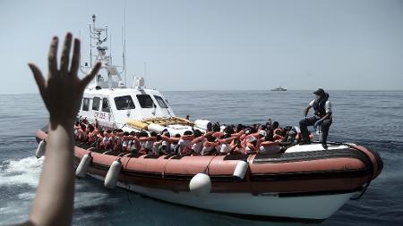 Kenny Karpov/SOS Mediterranee/AP