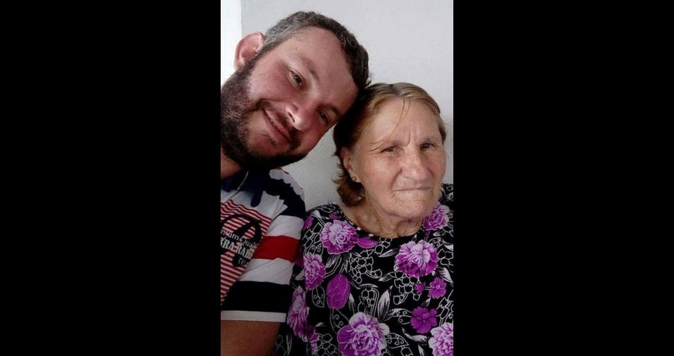 Ariel Marconato com a mãe Virka Lessei, de Prudentópolis (PR)