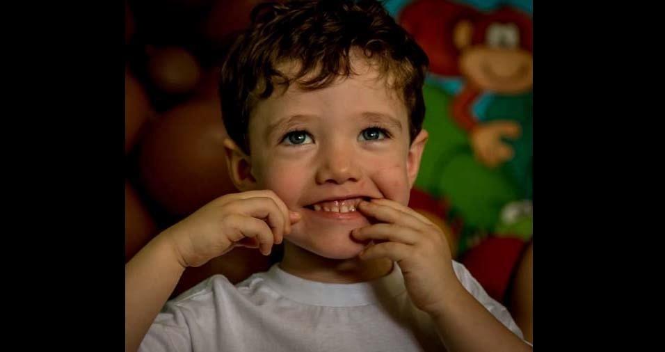 Tatiane e Murilo enviaram a foto do filho Davi, de Cambuí (MG)
