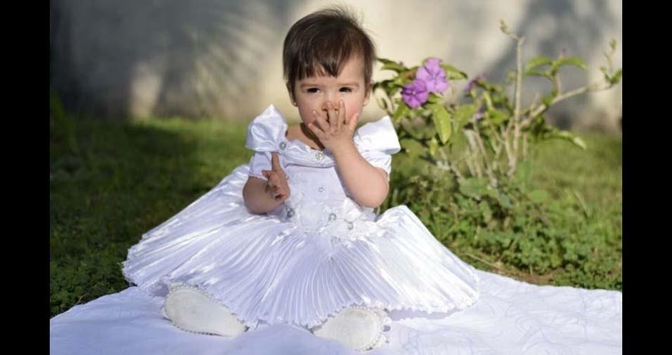 Ewerton, de São José dos Pinhais (PR), enviou foto da filha Maria Eduarda