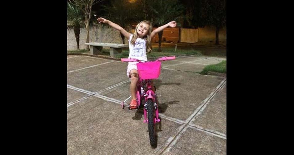 Claudemir, de Catanduva (SP), enviou foto da filha Ana Luiza, de seis anos