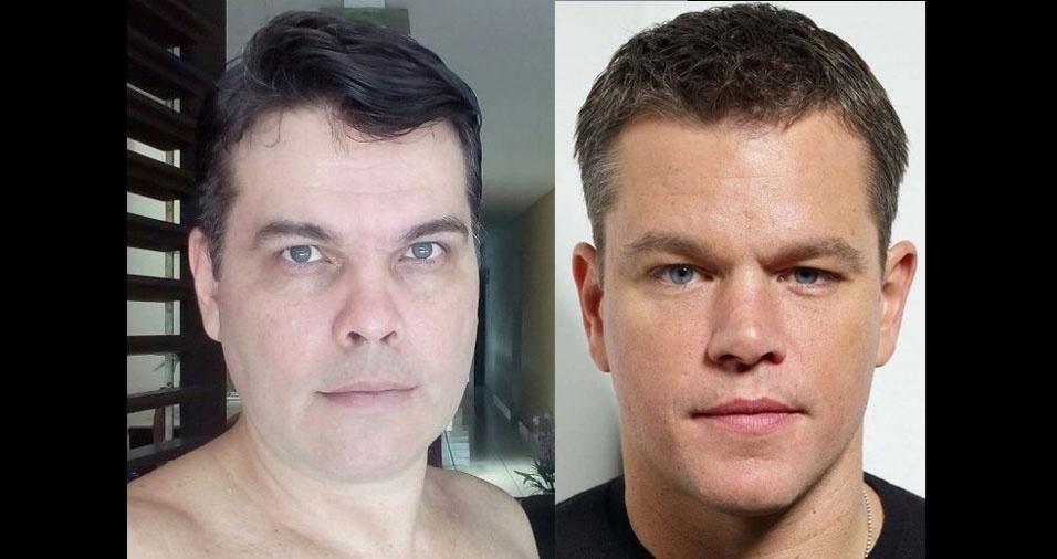Moises Candido, de João Pessoa (PB), conta que os amigos o acham parecido com Matt Damon
