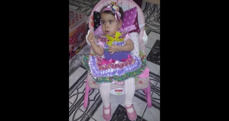 Carlos Augusto Martins Machado enviou foto da filha Maria Luísa, que, na época da foto, tinha um ano e sete meses. Malu morava no Rio de Janeiro