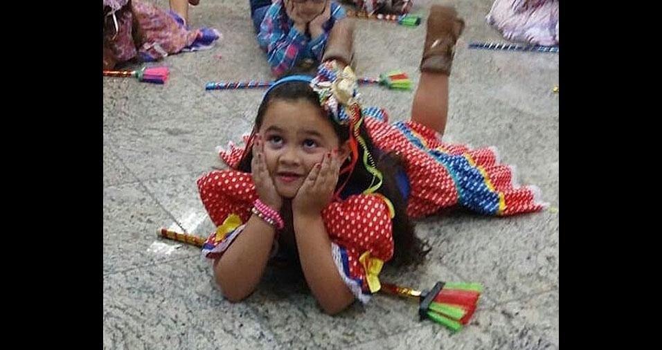 Daniela Raiol, de São Paulo (SP), mandou foto da filha Maria Clara