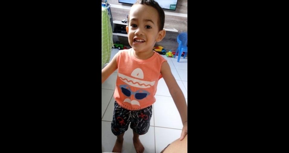 O pai Canrobert enviou foto do filho Mateus, de Campina Grande (PB)