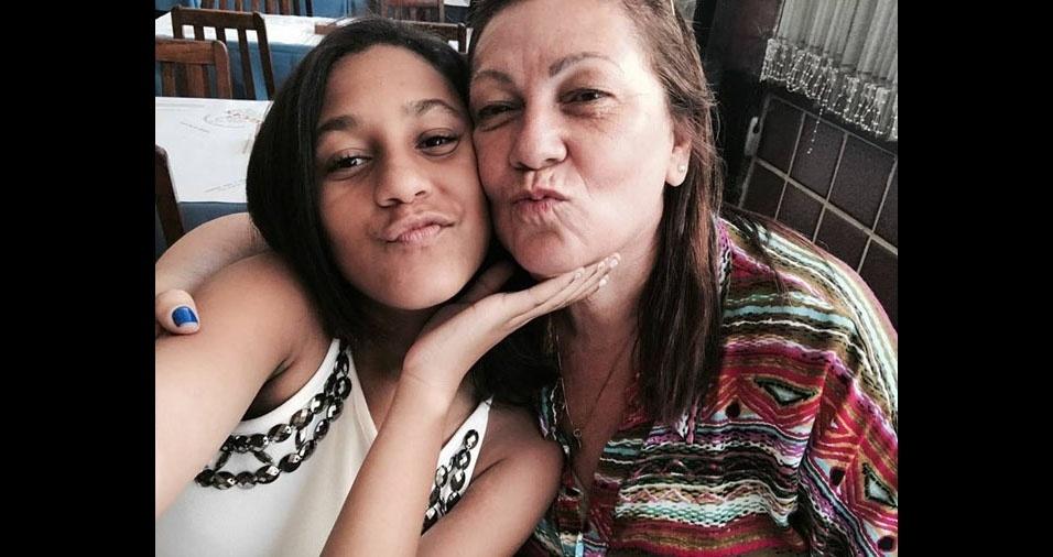 Thayná Cristina Leite Da Silva com a mãe Idinea Nicacio da Silva, de Duque De Caxias (RJ)