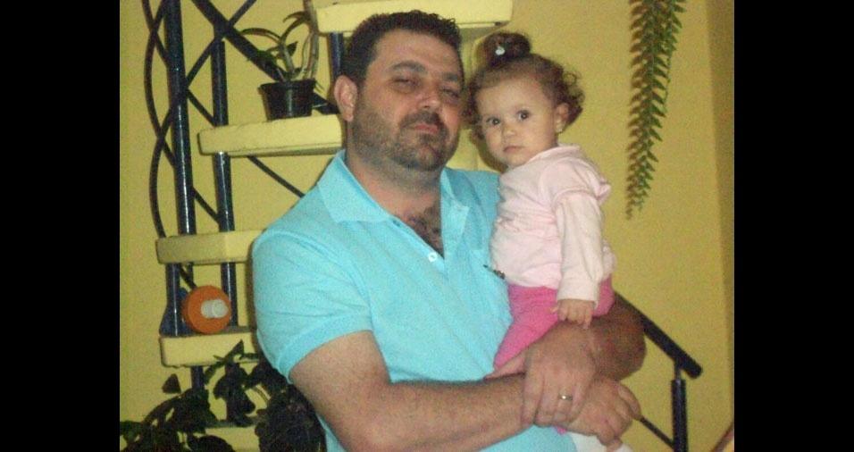 Bianca Alves Batscher com o papai Carlos Marcelo Batscher, de São Paulo (SP)