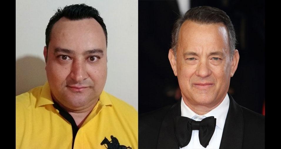 """Valcir Firmino, de Jundiaí (SP), conta: """"Me confundem com ator Tom Hanks, do filme 'Náufrago'"""""""