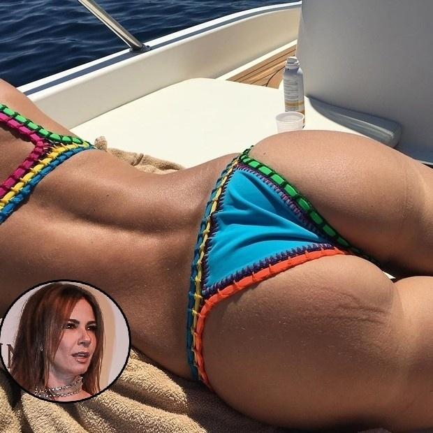"""22.ago.2016 - Luciana Gimenez está com tudo! Desta vez, a apresentadora de 46 anos publicou uma foto aproximada de seu bumbum no Instagram. Na imagem, a morena aparece deitada, de biquíni colorido, tomando sol em um barco. Em apenas 1 hora, a publicação atingiu mais de 1,5 mil curtidas. """"Linda, corpo de 20"""", elogiou uma seguidora. """"Parabéns pelo corpo maravilhoso"""", comentou outra. Alguns, no entanto, criticaram Luciana. """"Ai que foto desnecessária! Essa gosta de aparecer! Era fã, mas conteúdo zero"""", reclamou uma internauta."""