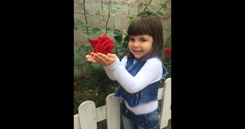 Janaina, de Jundiaí (SP), enviou foto da filha Valentina, de três anos e meio