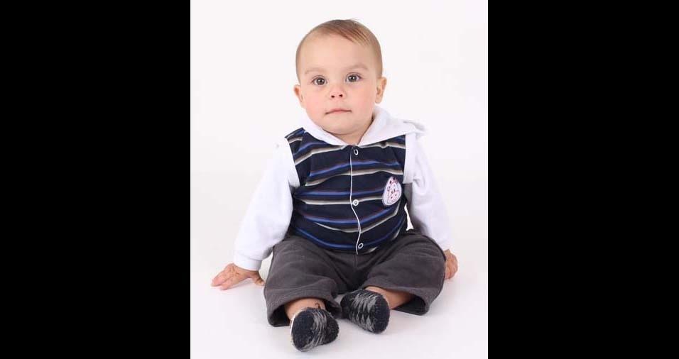 André, de São Paulo (SP), enviou foto do filho Murilo, de um ano e cinco meses